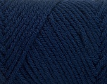 Items made with this yarn are machine washable & dryable. Fiber Content 100% Acrylic, Brand ICE, Dark Navy, Yarn Thickness 4 Medium  Worsted, Afghan, Aran, fnt2-57421
