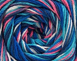 Fiber Content 100% Acrylic, White, Pink, Navy, Brand ICE, Blue Shades, fnt2-57761