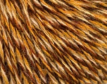 Fiber Content 50% Acrylic, 50% Wool, Brand ICE, Gold, Cream, Brown Shades, fnt2-57864