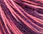 Fiber Content 50% Acrylic, 50% Wool, Purple Shades, Pink, Brand ICE, fnt2-57930