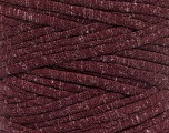 Make handbags,rugs,basket and cushion covers with this genius new-fashion yarn!<p>Since the yarn is made by upcycling fabrics, and because of the nature of the yarn; take the following notes into consideration. </p><ul><li>Width vary between 0,8 cm and 1,2 cm</li><li>Fiber content information may vary. Information given about fiber content is approximate. </li><li>The yardage and weight information of the yarn is approximate. </li></ul> Fiber Content 95% Cotton, 5% Elastan, Brand ICE, Burgundy, Yarn Thickness 6 SuperBulky  Bulky, Roving, fnt2-57956