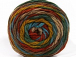 Fiber Content 100% Acrylic, Turquoise, Brand ICE, Green Shades, Brown Shades, Yarn Thickness 4 Medium  Worsted, Afghan, Aran, fnt2-58139