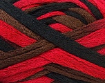 Fiber Content 100% Acrylic, Red, Brand ICE, Brown, Black, Yarn Thickness 6 SuperBulky  Bulky, Roving, fnt2-20674