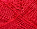 Width is 3 mm Fiber Content 100% Polyester, Red, Yarn Thickness Other, Brand ICE, fnt2-21650