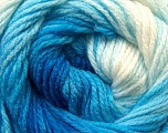Fiber Content 100% Acrylic, White, Brand Ice Yarns, Blue Shades, Yarn Thickness 3 Light  DK, Light, Worsted, fnt2-22017