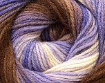 Fiber Content 100% Acrylic, White, Lilac, Brand Ice Yarns, Brown, Yarn Thickness 3 Light  DK, Light, Worsted, fnt2-22024