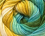 Fiber Content 100% Acrylic, White, Turquoise, Brand Ice Yarns, Green, Blue, Yarn Thickness 3 Light  DK, Light, Worsted, fnt2-22028