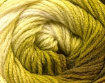 Fiber Content 100% Acrylic, White, Brand ICE, Green Shades, Yarn Thickness 3 Light  DK, Light, Worsted, fnt2-22030