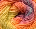 Fiber Content 100% Acrylic, Yellow, Pink, Orchid, Orange, Brand Ice Yarns, Yarn Thickness 3 Light  DK, Light, Worsted, fnt2-22032
