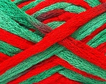 Fiber Content 100% Acrylic, Red, Brand ICE, Green, Yarn Thickness 6 SuperBulky  Bulky, Roving, fnt2-22300