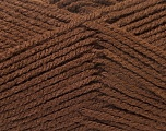 Fiber Content 100% Acrylic, Brand ICE, Brown, Yarn Thickness 3 Light  DK, Light, Worsted, fnt2-22414
