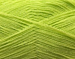 Very thin yarn. It is spinned as two threads. So you will knit as two threads. Yardage information is for only one strand. Fiber Content 100% Acrylic, Light Green, Brand ICE, Yarn Thickness 1 SuperFine  Sock, Fingering, Baby, fnt2-22442