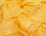 A fresh scarf  yarn wiith cotton content. Shiny and fresh! Fiber Content 70% Cotton, 30% Nylon, Yellow, Brand ICE, Yarn Thickness 6 SuperBulky  Bulky, Roving, fnt2-23316