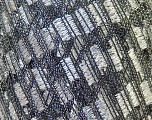 Trellis  Composition 95% Polyester, 5% Lurex, Silver, Brand Ice Yarns, Black, Yarn Thickness 5 Bulky  Chunky, Craft, Rug, fnt2-23392
