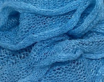 A fresh scarf  yarn wiith cotton content. Shiny and fresh! Fiber Content 70% Cotton, 30% Nylon, Light Blue, Brand ICE, Yarn Thickness 6 SuperBulky  Bulky, Roving, fnt2-23402