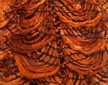 Fiber Content 90% Acrylic, 10% Polyester, Orange, Brand ICE, Brown, Yarn Thickness 6 SuperBulky  Bulky, Roving, fnt2-24241