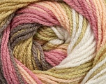 Fiber Content 100% Premium Acrylic, White, Pink, Brand ICE, Camel, Beige, Yarn Thickness 3 Light  DK, Light, Worsted, fnt2-24558