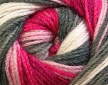 Fiber Content 100% Premium Acrylic, Pink Shades, Brand ICE, Grey, Yarn Thickness 3 Light  DK, Light, Worsted, fnt2-24562
