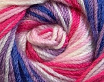 Fiber Content 100% Premium Acrylic, White, Purple, Pink Shades, Brand Ice Yarns, Yarn Thickness 3 Light  DK, Light, Worsted, fnt2-24563
