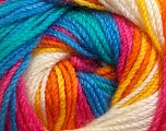 Fiber Content 100% Premium Acrylic, Yellow, White, Pink, Orange, Brand Ice Yarns, Green, Blue, Yarn Thickness 3 Light  DK, Light, Worsted, fnt2-24567