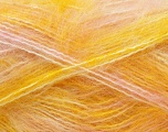 Fiber Content 70% Mohair, 30% Acrylic, Yellow, White, Pink, Brand ICE, Yarn Thickness 5 Bulky  Chunky, Craft, Rug, fnt2-24685