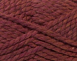 SuperBulky  Fiber Content 55% Acrylic, 45% Wool, Maroon, Brand ICE, Yarn Thickness 6 SuperBulky  Bulky, Roving, fnt2-24944