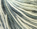 Fiber Content 40% Acrylic, 35% Wool, 25% Alpaca, White, Brand ICE, Grey Shades, Yarn Thickness 5 Bulky  Chunky, Craft, Rug, fnt2-25414