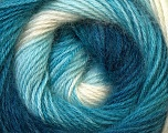 Fiber Content 55% Acrylic, 45% Angora, White, Navy, Brand Ice Yarns, Blue Shades, Yarn Thickness 2 Fine  Sport, Baby, fnt2-26798