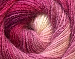 Fiber Content 55% Acrylic, 45% Angora, White, Pink Shades, Lilac, Brand Ice Yarns, Yarn Thickness 2 Fine  Sport, Baby, fnt2-26937