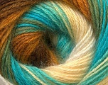 Fiber Content 55% Acrylic, 45% Angora, Turquoise, Brand Ice Yarns, Green, Cream, Brown, Yarn Thickness 2 Fine  Sport, Baby, fnt2-26941
