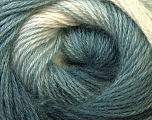 Fiber Content 55% Acrylic, 45% Angora, White, Brand Ice Yarns, Grey Shades, Yarn Thickness 2 Fine  Sport, Baby, fnt2-27132