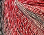 Fiber Content 50% Wool, 50% Acrylic, Red, Pink, Brand ICE, Grey, Yarn Thickness 3 Light  DK, Light, Worsted, fnt2-27156