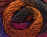 Fiber Content 40% Wool, 30% Mohair, 30% Acrylic, Purple, Brand ICE, Gold, Fuchsia, Copper, Brown, Yarn Thickness 3 Light  DK, Light, Worsted, fnt2-27204