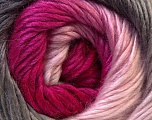 Fiber Content 40% Wool, 30% Mohair, 30% Acrylic, Pink Shades, Brand ICE, Grey, Yarn Thickness 3 Light  DK, Light, Worsted, fnt2-27208