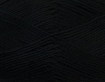Composition 50% Bambou, 25% Coton, 25% Dralon, Brand Ice Yarns, Black, Yarn Thickness 2 Fine  Sport, Baby, fnt2-27272