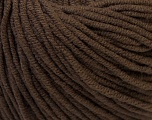 Fiber Content 50% Acrylic, 50% Cotton, Brand ICE, Brown, Yarn Thickness 3 Light  DK, Light, Worsted, fnt2-27355