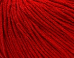 Fiber Content 50% Acrylic, 50% Cotton, Red, Brand ICE, Yarn Thickness 3 Light  DK, Light, Worsted, fnt2-27358