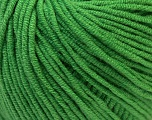 Fiber Content 50% Acrylic, 50% Cotton, Brand ICE, Green, Yarn Thickness 3 Light  DK, Light, Worsted, fnt2-27365