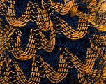 Fiber Content 97% Acrylic, 3% Lurex, Yellow, Navy, Brand ICE, Gold, Yarn Thickness 6 SuperBulky  Bulky, Roving, fnt2-27376