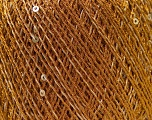 Composition 80% Polyester, 20% Paillette, Brand Ice Yarns, Bronze, Yarn Thickness 2 Fine  Sport, Baby, fnt2-29148