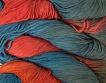 In this yarn a 100% Linen yarn is used. Dyeing process is totally hand made with natural plants and NO chemicals were used. For this reason, please be advised that some white parts may remain. Composition 100% Lin, Salmon, Brand Ice Yarns, Grey, Blue, Yarn Thickness 2 Fine  Sport, Baby, fnt2-32451