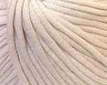 This is a tube-like yarn with soft cotton fleece filled inside. Fiber Content 70% Cotton, 30% Polyester, Light Beige, Brand Ice Yarns, Yarn Thickness 5 Bulky  Chunky, Craft, Rug, fnt2-32489
