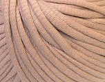 This is a tube-like yarn with soft cotton fleece filled inside. Fiber Content 70% Cotton, 30% Polyester, Brand Ice Yarns, Beige, Yarn Thickness 5 Bulky  Chunky, Craft, Rug, fnt2-32490