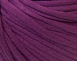 This is a tube-like yarn with soft cotton fleece filled inside. Fiber Content 70% Cotton, 30% Polyester, Purple, Brand Ice Yarns, Yarn Thickness 5 Bulky  Chunky, Craft, Rug, fnt2-32502