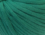 This is a tube-like yarn with soft cotton fleece filled inside. Fiber Content 70% Cotton, 30% Polyester, Brand ICE, Green, Yarn Thickness 5 Bulky  Chunky, Craft, Rug, fnt2-32505