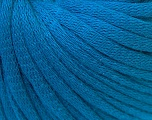 This is a tube-like yarn with soft cotton fleece filled inside. Fiber Content 70% Cotton, 30% Polyester, Brand ICE, Blue, Yarn Thickness 5 Bulky  Chunky, Craft, Rug, fnt2-32509