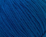 Fiber Content 50% Acrylic, 50% Cotton, Brand ICE, Bright Blue, Yarn Thickness 3 Light  DK, Light, Worsted, fnt2-33064