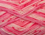 Fiber Content 100% Acrylic, White, Pink Shades, Brand ICE, Yarn Thickness 2 Fine  Sport, Baby, fnt2-33689