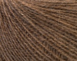 This is an excellent yarn with high-content of Alpaca, Mohair, and Merino Wool. Works excellent for your fine-weight patterns with more than 30 plain and melange colors. Fiber Content 40% Merino Wool, 30% Acrylic, 20% Alpaca, 10% Mohair, Brand ICE, Brown, Yarn Thickness 2 Fine  Sport, Baby, fnt2-33831