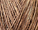 Composition 100% Viscose, Brand Ice Yarns, Cream, Brown, Yarn Thickness 2 Fine  Sport, Baby, fnt2-34266